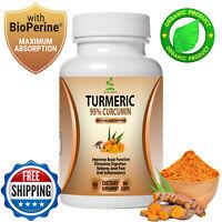Turmeric Curcumin with Bioperine Black Pepper 95% Curcuminoids Extract 90 caps