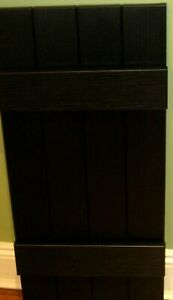 """Severe Weather Pair Joined BOARD and BATTEN Exterior Black Shutters 14 x 31"""" NIB"""