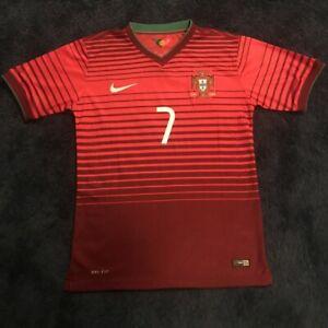Ronaldo No 7 2014 Portugal Home Nike Dri-Fit Jersey size M