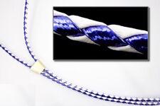 """36"""" White/Metallic Blue Bolo Cord #BOLO33"""