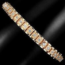 Armband, 925 Sterling Silber, Seltene natürliche 1mm / 46 St. Diamant, Neu