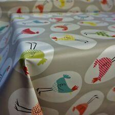 Tabella in PVC grigio che copre con Gallina Pollo uovo design TOVAGLIA (al metro)