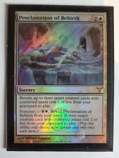 Mtg proclamation of rebirth foil x 1 great condition