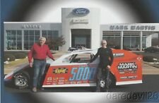 2016 Mark Martin + Larry Shaw Chassis 5000 Dirt Modified postcard