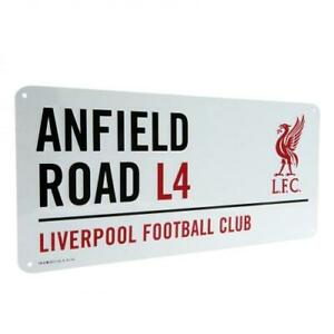 LIVERPOOL FC OFFICIAL CLASSIC METAL STREET SIGN - FOOTBALL GIFT, XMAS, LFC