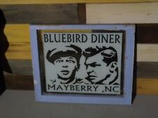 The Andy Griffith Show Bluebird Diner Window Sign Barney Mayberry NC TV TAGS