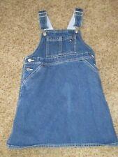 TOMMY HILFIGER- Girls Size S- Jean Bib Overalls Dress-Cute!!