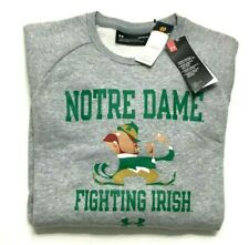 Under Armour Notre Dame Fighting Irish Crew Neck Sweater Men's Large Loose Gray