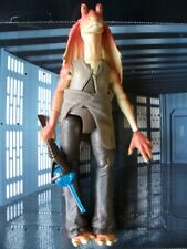 "STAR WARS EPISODIO 1 RARA 12"" Loose elettronico Jar Jar Binks ottime condizioni.C-10+"