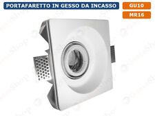 PORTAFARETTO DA INCASSO IN GESSO VERNICIABILE A SCOMPARSA PER LAMPADE GU10 MR16