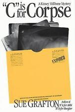 C is for Corpse A Kinsey Millhone Mystery Hardcover book Sue Grafton FREE SHIP