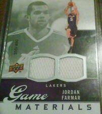 Jordan Farmar /400 jersey 2009-10 Upper Deck Game Materials #GJJF L.A. Lakers