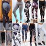 Pantalones mujer deporte pantalón impresos de yoga elásticos de fitness Leggings