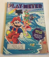 PLAY METER MAGAZINE Volume 15, No 7. July 1989. vintage video games Mag. Mario