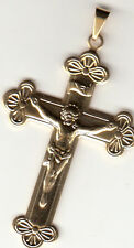 Gold Color, Brand New Cross With Jesus Medal/Pendant,