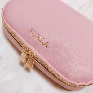 """"""" FURLA Cosmetic Bag Pink """" Multi Case Pouch IC card case from japan new asian"""