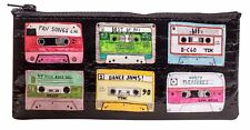 "Blue Q ""Mixtape"" pencil case bag recycled eco mix tape 80s 90s retro"