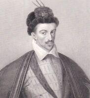 Portrait XIXe Henri III Valois Gavard Massard Pannier Rubis