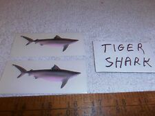 Two Tiger Shark Offshore Fish Decals-6.97-Over 3.25 Inches Long