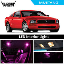 Pink LED Interior Lights Replacement Kit for 2005-2009 Ford Mustang 4 bulbs