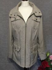 Marks And Spencer Womens Jacket Coat Size 12 Beige Cream