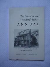 1966 New Canaan Historical Society CT New Canaan Drug Store Vol 4 Num 4 Book