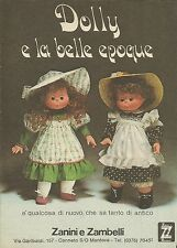 X9788 Dolly e la belle epoque - Zanini e Zambelli - Pubblicità 1975 - Advertis.