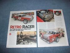 "1956 Chevy Bel Air Dirt-Track Vintage Racer Article ""Retro Racer"" Allentown, Pa"