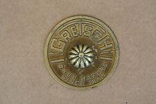 1960's GRETSCH ROUND BADGE w/ TACK for YOUR TOM FLOOR & DRUM SET!!! #C835