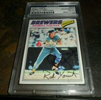 1977 TOPPS #635 ROBIN YOUNT MILWAUKEE BREWERS SIGNED AUTO HOF PSA/DNA