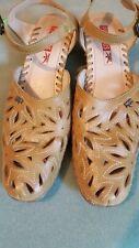 Pikolinos Sage Green Leather Mary Jane Slingback Heels Sz 41 (US 10.5-11)