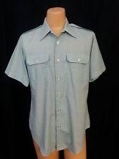 Vtg Dead Stock Men Flying Cross Uniform Shirt Pastel Green Shrt Svs  L #2123 B40