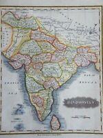 India British Raj Bengal Gujurat Mysore Sri Lanka Bombay Dehli 1844 Walker map