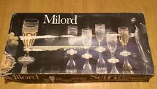 ** Vintage / Retro Savam Milord Champagne Flute Glasses Set - Made In Italy **