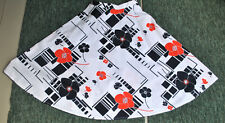 Rare Vintage 1960s 70s Graphic Geometric Floral High Waist Skirt UK 6 UK 8