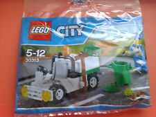 NEW Lego City Garbage Truck set Polybag 30313 - Clearner minifigure, Garbage bin