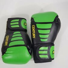 Century Youth Brave Hook and Loop Training Boxing Gloves - 6 oz. - Black/Green