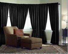 Velvet Curtain Panel Drape 10W x 8H Black Home Theater Energy Efficient Curtain