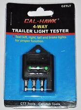 NEW CAL-HAWK 4 WAY TRAILER LIGHT WIRE TESTER BRAKE SIGNAL FUNCTION FLAT CIRCUIT