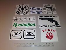 Guns Stickers (10) Hunting Vinyl Decals Armor Carbine Firearms Pistols