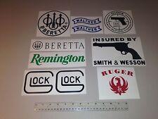 Guns Vinyl decals (10) Hunting Stickers Armor Carbine Firearm Rifle sticker