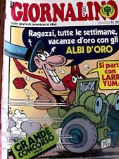 Giornalino 22 1979 con inserto LARRY YUMA Albi D'Oro - Poster MILAN - Jacovitti