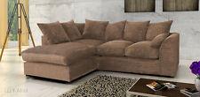 Jumbo Cord Corner Sofa In Brown & Grey, a Footstool or 2+3 Seater, Swivel
