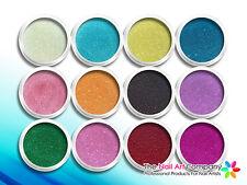 NAIL ART - CAVIAR MICRO PEARLS & BULLION BEADS - 12 Opaque Colour Set