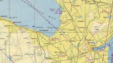 Lake Huron Sectional Aeronautical Chart W-8 1950