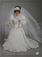 Annie's Attic Fashion Bed Doll Bride Crochet Pattern 1994 Gibson Girl