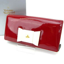 Vivienne Westwood Wallet Purse Orb Red White Woman Authentic Used Y926