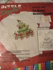 "PRE-SHADED CHRISTMAS TRANSFER~Dizzle Art Iron-On Transfer 14 X 17""~shirt~skirt++"