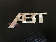 Silver Chrome small ABT emblem sticker for Audi A1 A3 A4 A5 A6 A8 TT Q3 Q5 Q7◎
