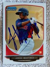 Cleveland Indians Jorge Martinez Signed 2013 Bowman Chrome Mini Card Auto